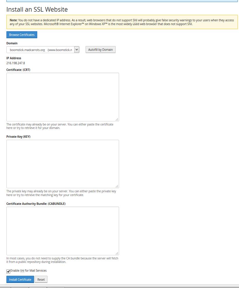 Install A Certificate On Whmcpanel Ssl