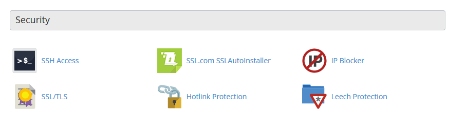 Click on SSL/TLS to install your certificate