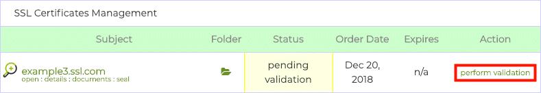 perform validation