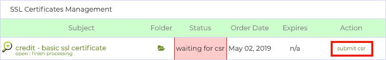 submit csr
