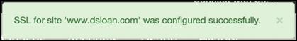 SSL Configured Successfully