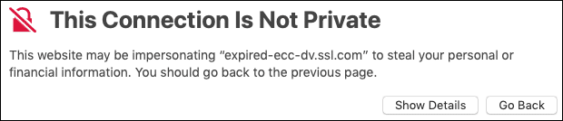 This connection is not private