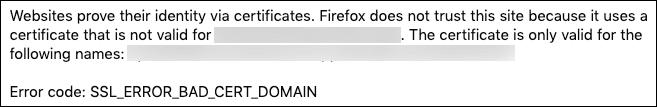 SSL_ERROR_BAD_CERT_DOMAIN