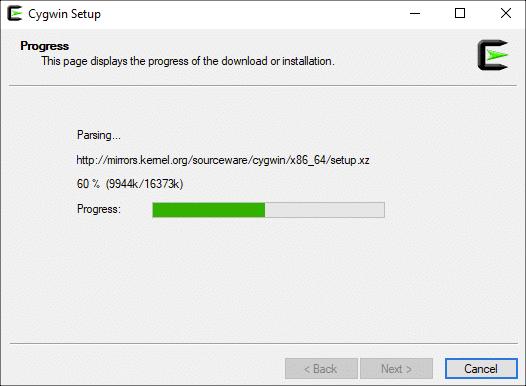 Downloading Cygwin Setup