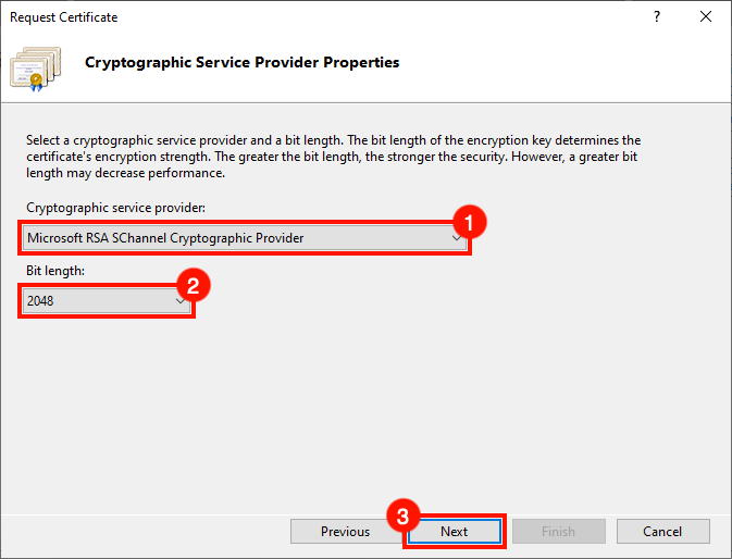 Cryptographic Service Provider Properties