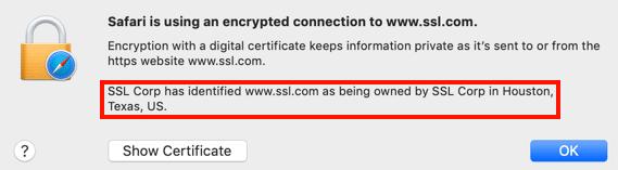 Website owner information in Safari