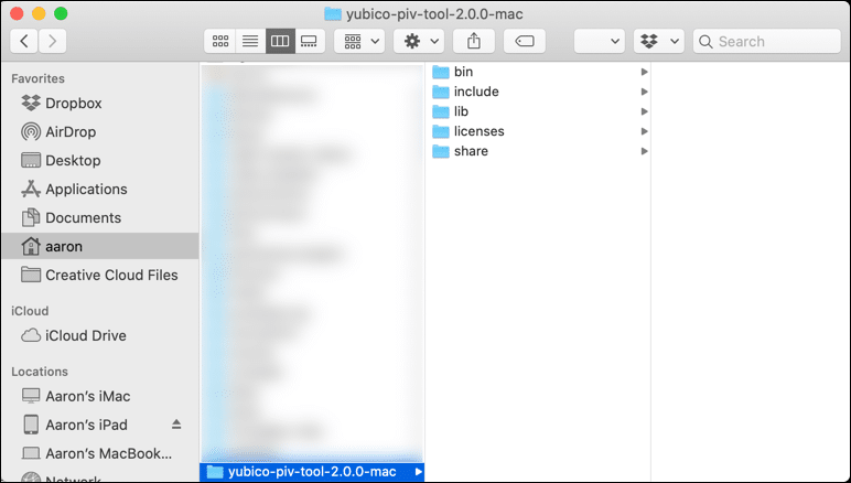 yubico PIV tool directory