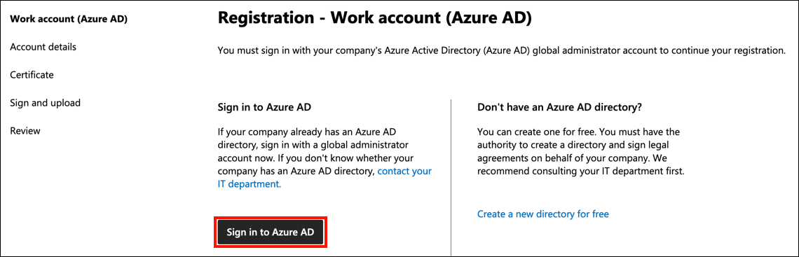 Sign in to Azure ID
