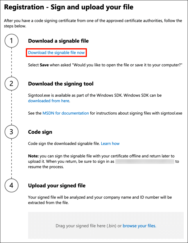 Download a signable file