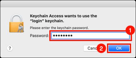 Enter login password